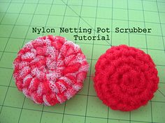 Crochet Pot Scrubber from Nylon Netting by Kari McNew