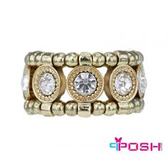 POSH Ella - Ring - Stretch ring - Gold tone metal with a single row of white crystals - Width: - Stretch ring will fit most sizes POSH by FERI - Passion for Fashion - Luxury fashion jewelry for the designer in you. Selling On Pinterest, Engraved Jewelry, Ladies Boutique, Passion For Fashion, Jewelry Stores, Bracelet Watch, Jewelry Accessories, Fashion Jewelry, Bling