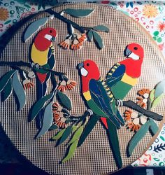 Mosaic Art - King of the Skies Mosaic Animals, Mosaic Birds, Mosaic Crafts, Mosaic Projects, Fused Glass Art, Mosaic Glass, Vitromosaico Ideas, Mosaic Furniture, Garden Wedding Centerpieces