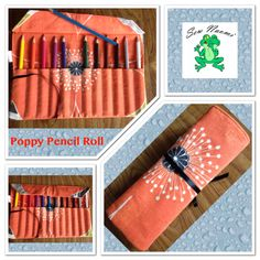 Beautiful poppy pencil roll to be auctioned off next month by Pullen's Unique Poppies.  Www.facebook.com/sewnaomi