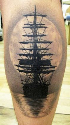 nautical calf tattoos - Google Search