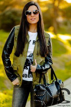 Mas34 - Crimenes de la Moda - Studds - tachuelas - botas - calzado - parka - jacket - military - chaqueta militar - BCBG Max Azria purse