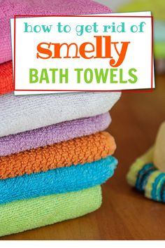 Easy hack for cleaning and removing the odor from smelly bath towels. Bathroom Towels, Bath Towels, Smelly Towels, Household Tips, Cleaning Hacks, Laundry, Budget, Easy, Bath Linens