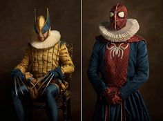 When Pop Culture and superheroes meet classical Flemish painting