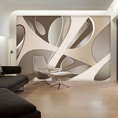 Modern Non-woven Large Mural Wallpaper Abstract Graphics Art Wall Decor Background Wall Paper 4959578 2017 – Kč602