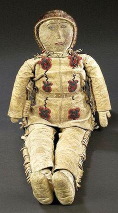 Athapaskan Male Doll. Native American Dolls, Native American Photos, Native American Artifacts, Native American Indians, Native Americans, Native Beadwork, Native American Beadwork, Native Indian, Native Art