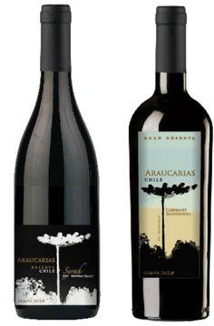 Araucarias Chile Wine Label