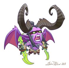 A few years ago while working for the Creative Development department at Blizzard Entertainment I was tasked with creating a line of character designs that were meant to re-imagine classic Blizzard characters in a new way. The line is called Cute But Dota Warcraft, Warcraft Art, Game Character Design, Character Concept, Character Art, Kawaii, Blizzard Warcraft, Illidan Stormrage, World Of Warcraft 3