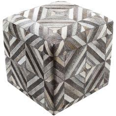 Surya Lycaon Cube Pouf - Animal - LCPF-001