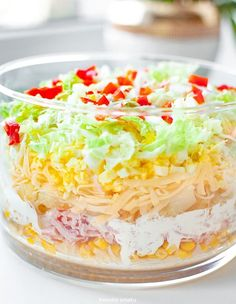 Salad Recipes, Keto Recipes, Cooking Recipes, Healthy Recipes, Good Food, Yummy Food, Keto Cake, Polish Recipes, Keto Diet For Beginners