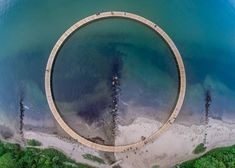 The letter I in our Christmas countdown of contemporary bridges is The Infinite Bridge, a circular walkway installed on the Danish coastline