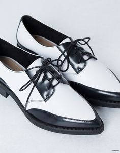 Black & White Zara Oford Shoes