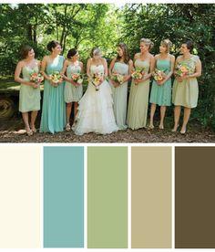 Color Palette: Antique Lace, Robin's Egg Blue, Sage Green, Tan, Brown -another living room option?