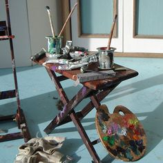 Atelier - wonderful artist vignette by Diane Meyboom - Can almost smell the turpentine.