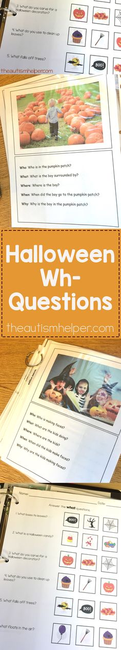 Our Wh-Question Seasonal Units includes 6 units each themed for different holidays with worksheets & flashcards included! From the autismhelper.com #theautismhelper
