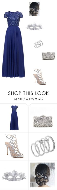 """""""Masquerade"""" by modest-flute on Polyvore featuring Adrianna Papell, Schutz, Vince Camuto and Masquerade"""