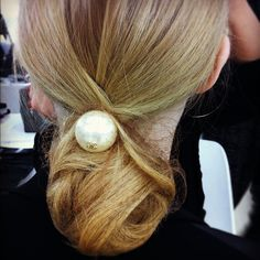 Twitter / Recent images by @Allure_magazine Chanel hair piece...too cuTe.