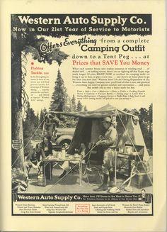 Western Auto Supply Advertisement, 1936 Sunset Magazine.