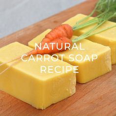 All Natural Carrot Soap Recipe with Real Carrots How to naturally color soap a sunny yellow using carrots. All natural cold-process soap recipe and tips on making lighter and darker batches Handmade Soap Recipes, Soap Making Recipes, Handmade Soaps, Carrot Soap Recipe, How To Make Light, How To Make Soap, Goat Milk Soap, Homemade Beauty Products, Cold Process Soap