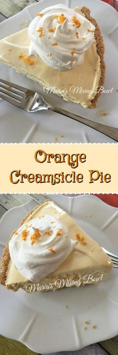 Orange Creamsicle Pie - Cool and creamy this easy and delicious pie will become your go to dessert when you need a quick fix. #orange #creamsicle #pie #easy #summerfavorite #