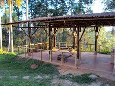 Bamboo gazebo Gazebo, Pergola, Bamboo House Design, Bamboo Building, Bamboo Construction, Photo Focus, Canvas Tent, Tent Camping, Ideas Para