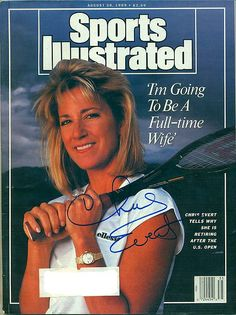 """""""Sports Illustrated"""", August 1989 (Chrissie announces she is retiring after the US Open)"""
