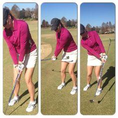 chip shot drill: hands ahead of clubhead, moving through impact - Karen Palacios-Jansen