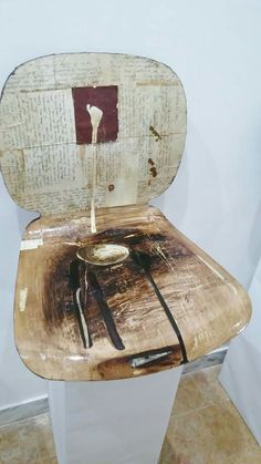 My. Chair Mixed media on chair 2016
