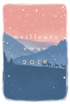L'hiver arrive et amène avec lui ses paysages enneigés et ses cartes de voeux. Souhaitez à vos proches une bonne année 2018 avec ce modèle. #happynewsyear #2018 #cards