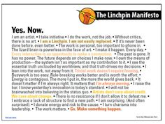 Marketing guru Seth Godin is beloved in the start-up scene as a treasure chest of good ideas and advice. His latest manifesto inspires you to become a 'linchpin' - aka those who 'invent, lead (regardless of title), connect others, make things happen, and create order out of chaos'.Download the full manifesto here.