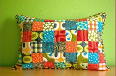 a stitch in color :: patches pillow | Flickr - Photo Sharing!