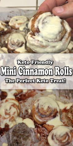 Mini Cinnamon Rolls are a tasty treat and very easy to make! You basically take the fat head pizza dough and turn it to a delicious snack or dessert! You can change the amount of stevia or butter to better suit your own needs or macros too! Keto Foods, Vegan Keto Diet, Keto Snacks, Yummy Snacks, Keto Desserts, Keto Dessert Easy, Dukan Diet, Diabetic Snacks, Mini Desserts