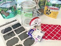 DIY Dog Treat Jar - Easy & Interchangeable #NaturalBalance #ad @NaturalBalance