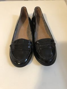 82bdb57a9e8 Topshop Black Patent Penny Loafer New Sz 37  fashion  clothing  shoes   accessories