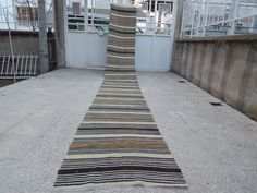 Soft Natural Wool NARROW RUNNER  First Half 20 Cty Moroccan Style Vintage Kilim Runner Black Striped Hall Runner 2'3'' X 17'3'' / 68x527 cm by HANDSONHIPS on Etsy https://www.etsy.com/listing/270308734/soft-natural-wool-narrow-runner-first