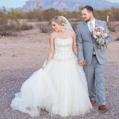 We've found our desert #PrincessBride! Photography: @aprilmaura via @pinkmee92 // Gown: @CasablancaBridal #Style2071 // Florist: @wildirisweddings // Make-up: ldemaro8 // Hair: @bladeshair // Menswear: @nicksmenswear #CasablancaBride #CelebrateForever