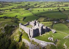 Carreg Cennen Castle, Llandeilo, Carmarthenshire,  Wales