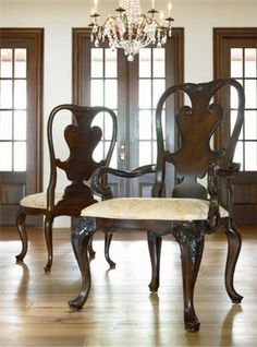 Thomasville Brompton Hall Mahogany Dining Chair Set (6)