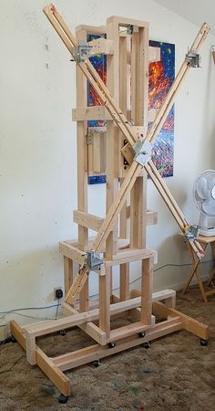 Custom easel that rotates, moves vertically and horizontally | scott anderson - Blog