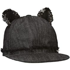 Karl Lagerfeld Cat Ears Cap (445 RON) ❤ liked on Polyvore featuring accessories, hats, black, pointy hat, karl lagerfeld, baseball cap, cat ear baseball hat and cat ear baseball cap