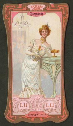 French art deco trade card  Lefevre 1900