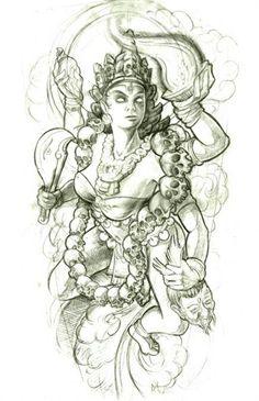 Hindu god tattoo design idea