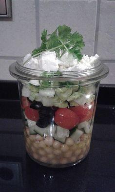 """Salat im Glas / Salat fürs Büro """"Griechischer Salat"""""""