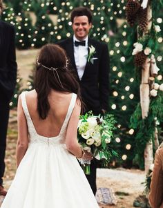 Christmas Tree Farm wedding - Sarah Vickers & Kiel James Patrick