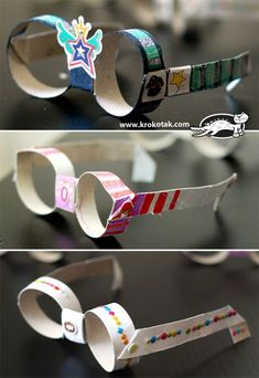 DIY Tutorial DIY Children's / DIY Sunglasses from empty toilet paper rolls - Bead&Cord Toilet Paper Crafts, Toilet Paper Roll, Summer Diy, Summer Crafts, Summer Travel, Craft Activities, Preschool Crafts, Preschool Kindergarten, Diy For Kids