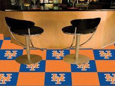 """MLB - New York Mets Carpet Tiles 18""""x18"""" tiles"""