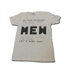 Buy Online Mew - No More Stories White T-Shirt