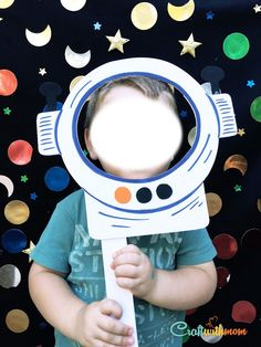 CraftWithMom: Space Party | Make a DIY Spaceman Photo Booth!