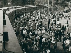 JAPANESE RELOCATION CAMPS   shows Japanese-Canadians in Slocan City, BC waiting for internment ...