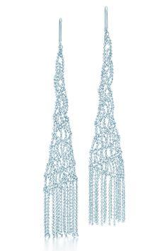 Tiffany & Co. Ziegfeld Collection drop earrings in sterling silver. #TiffanyPinterest